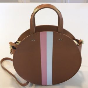 Clare V Petite Alistair Circle Bag with Stripe